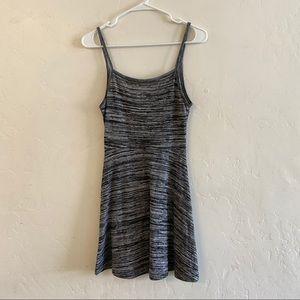 Divided Gray Marled Knit Skater Style Mini Dress S